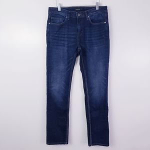 Frank & Oak Dylan Slim Jeans Size 30 Dark Wash